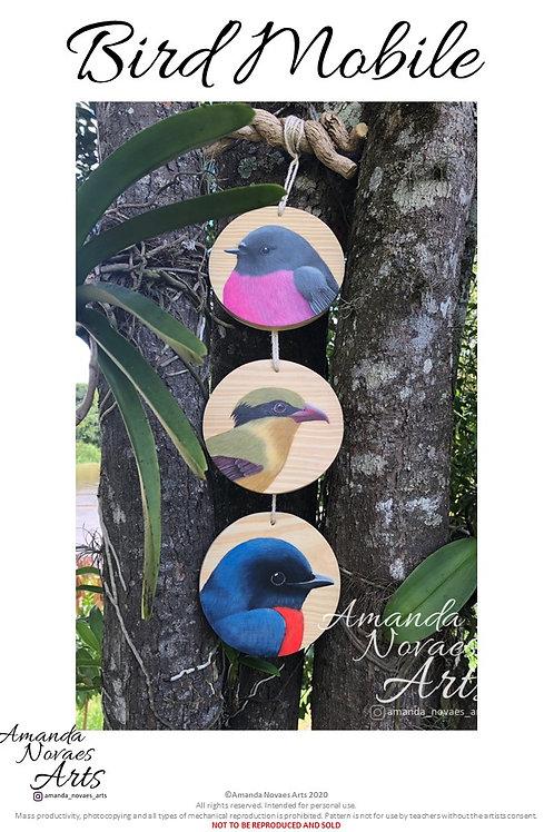 Bird Mobile - Acrylic Painting