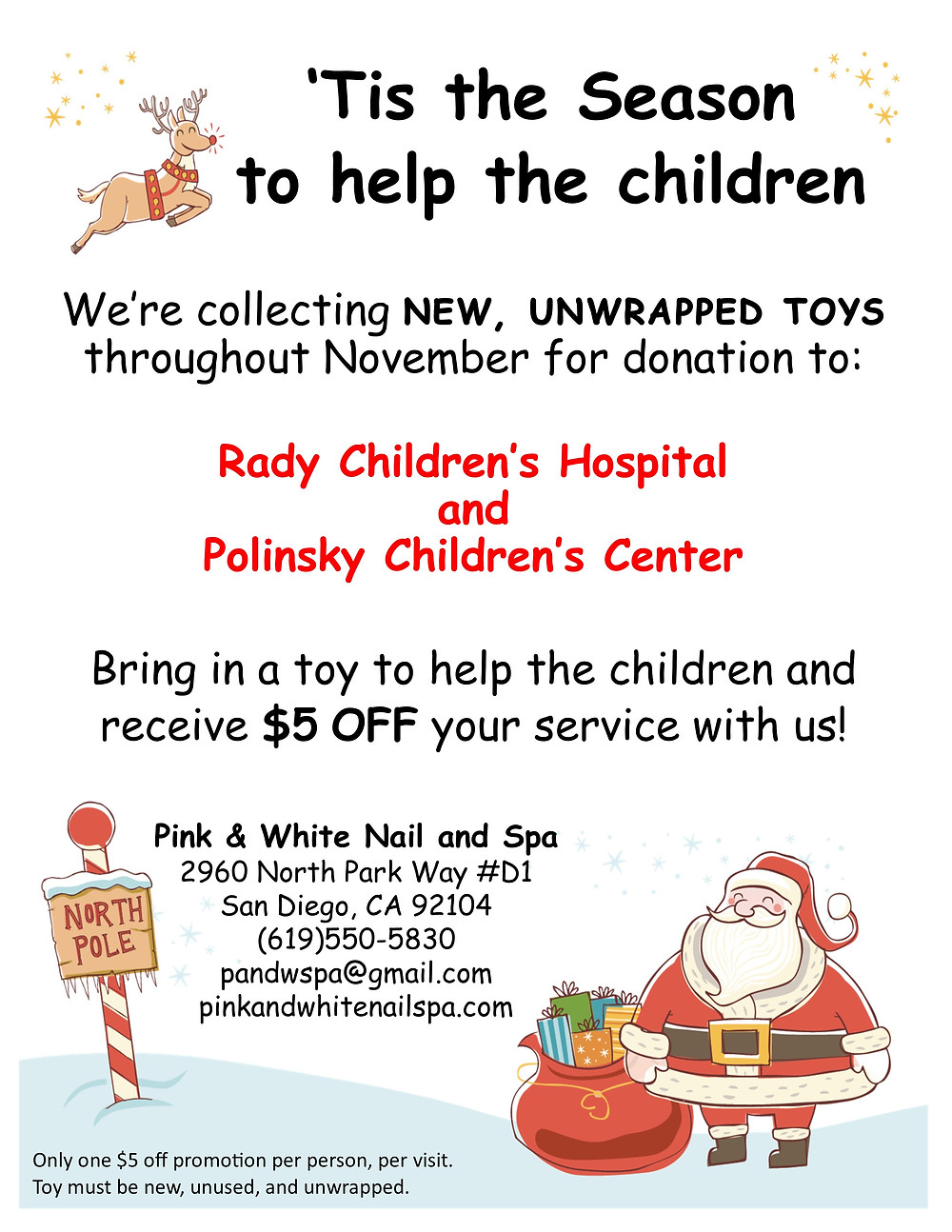 Toy donation flyer