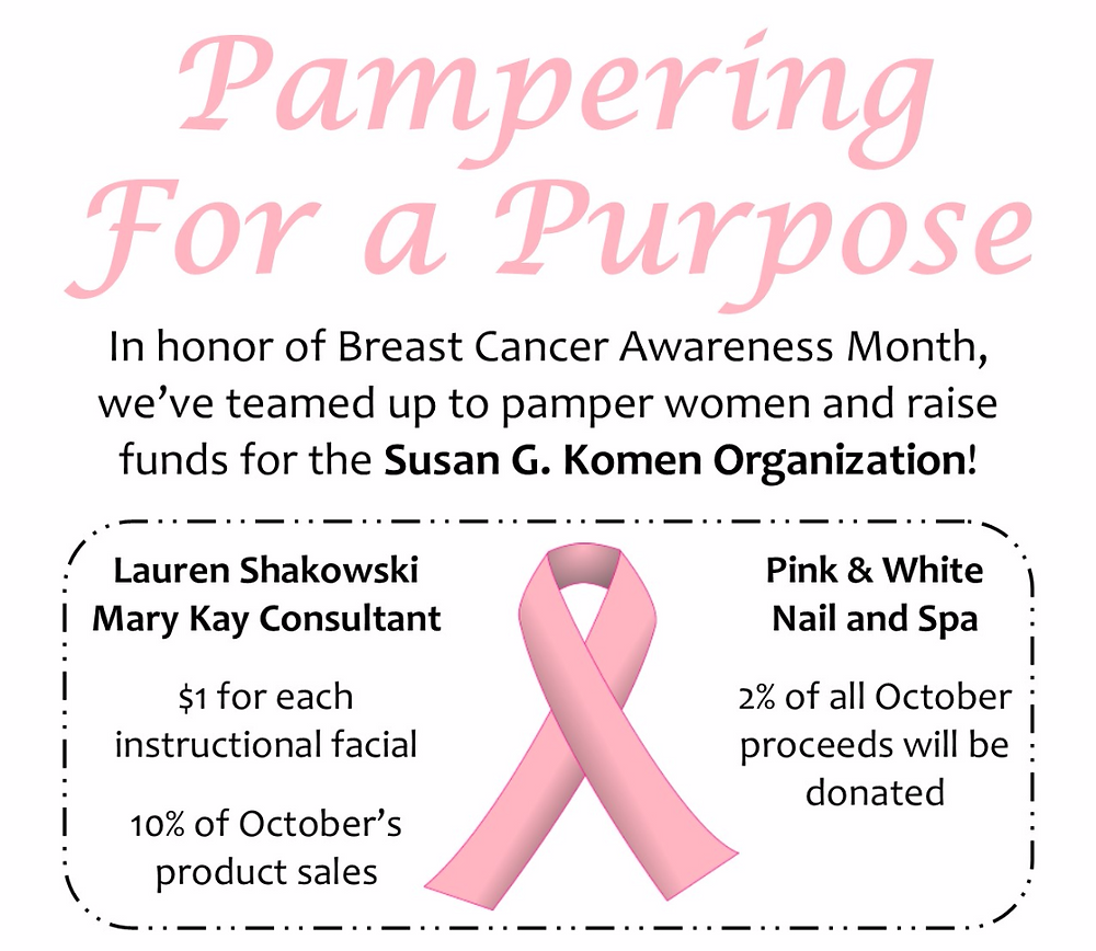 Pampering for a Purpose flyer