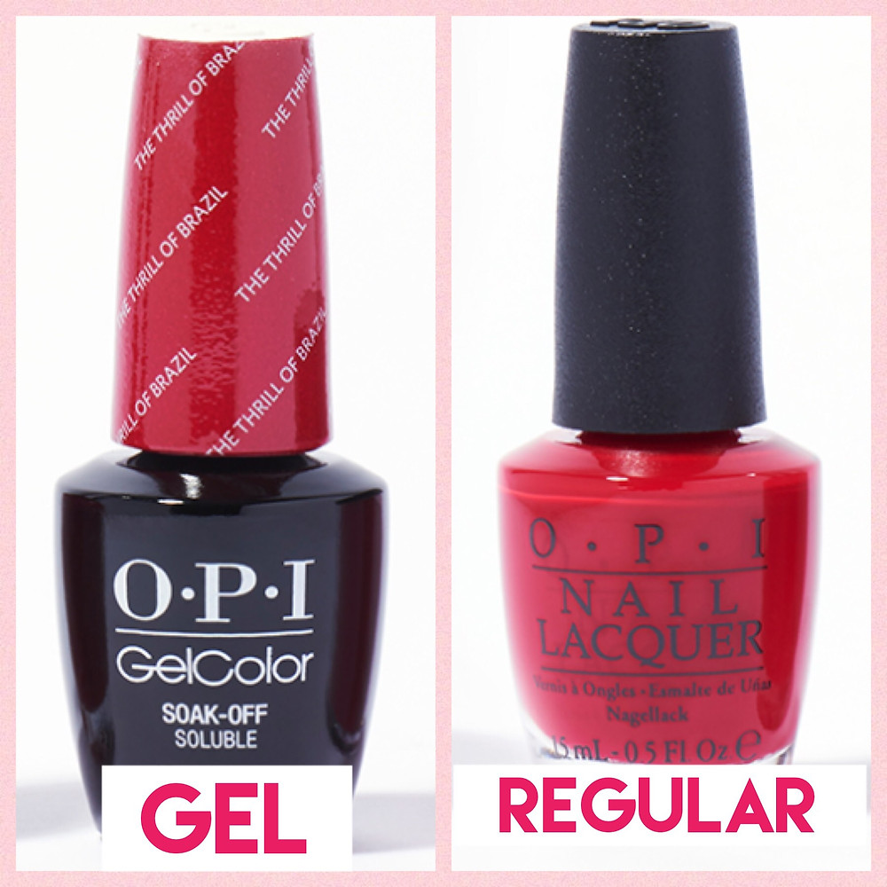Gel v. regular nail polish