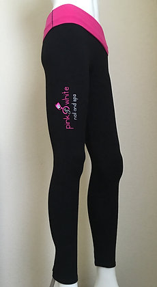 Pink & White Leggings