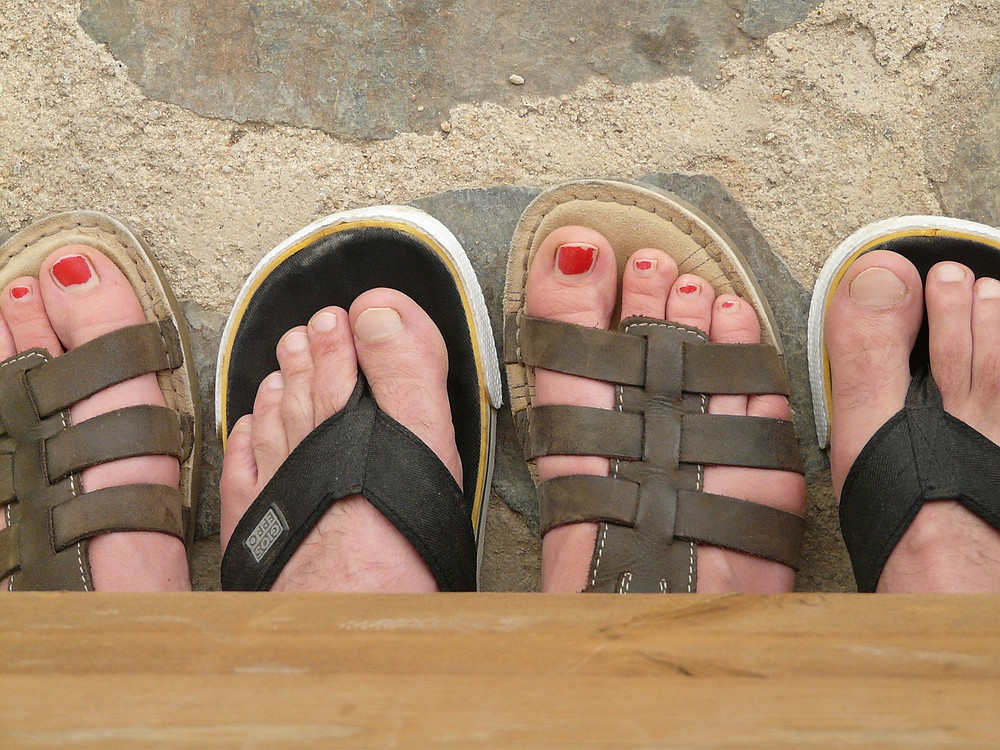 toenails in the sand