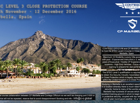 BTEC Level 3 in Close Protection in Marbella
