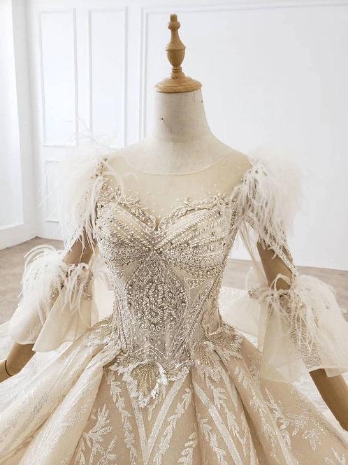 Elizabeth Taylor-inspired Bridal Gown #110711
