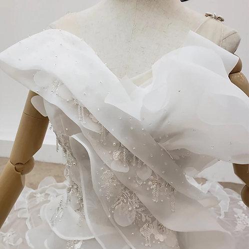 Applique Mermaid Illusion Bridal Gown #642905