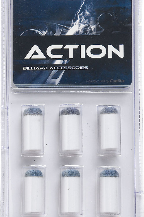 Action TR6SOB Blue Slip On Tips & Ferrules in Blister Pack of 6