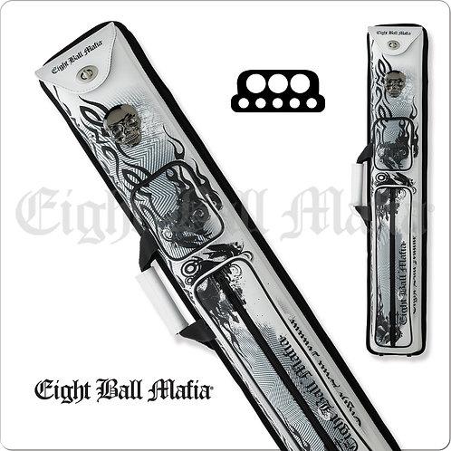 Eight Ball Mafia EBMCNB Steel Skull 3x5 Hard Pool Cue Case