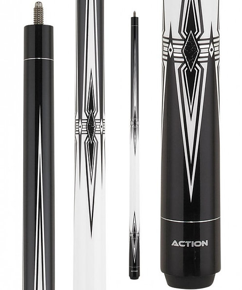 Action BW25 Black and White Pool Cue