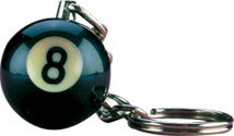 8-Ball NI8BK25 Key Chain Card of 25