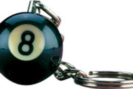 8-Ball NI8BK25 Key Chain Card of 25