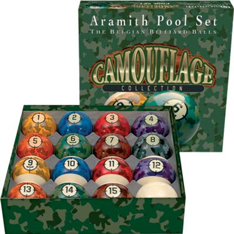 Aramith BBCAM Camouflage Ball Set