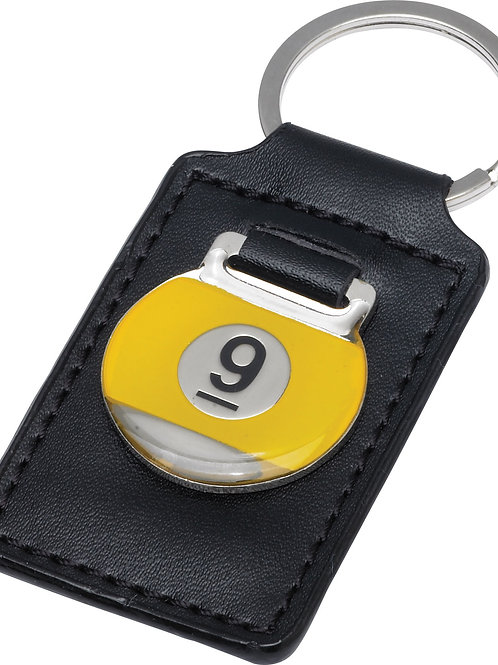 Action NIKC9 9-Ball  Leather Key Chain