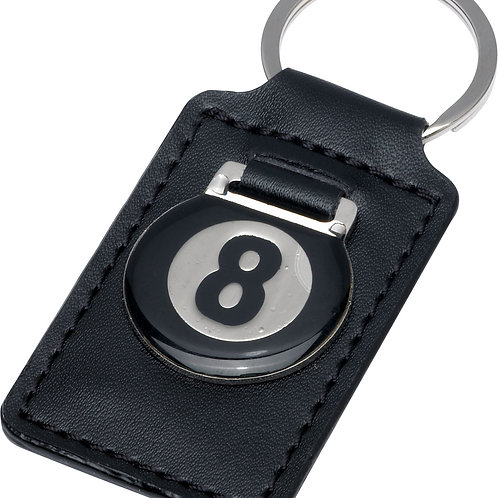 Action NIKC8 8-Ball  Leather Key Chain