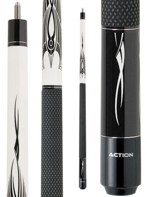 Action BW02 Black and White Pool Cue