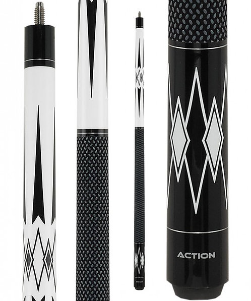 Action BW22 Black and White Pool Cue
