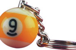 9-Ball NI9BK25 Key Chain Card of 25