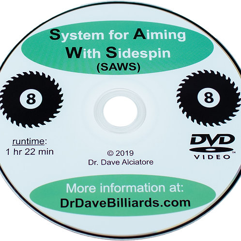 Dr Daves DVDSAWS System for aiming with sidespin