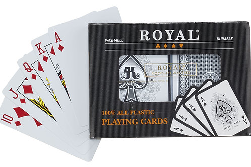 Plastic POKDK2 Playing Cards - 2 Deck Set