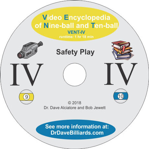 Dr. Dave's DVDVENT4 Video Encyclopedia of Nine-ball and Ten-Ball