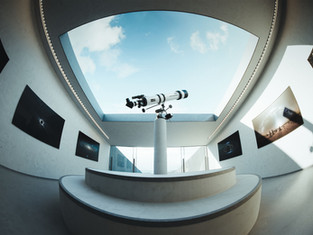 3D rendering of an observatory in Cyprus