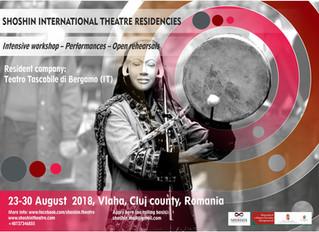 SHOSHIN INTERNATIONAL THEATRE RESIDENCIES, 23-29 August 2018