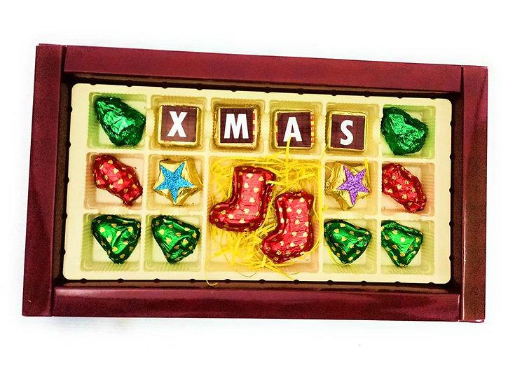 Christmas Special Chocolates, Xmas Message, Socks, Bells, Santa and Stars
