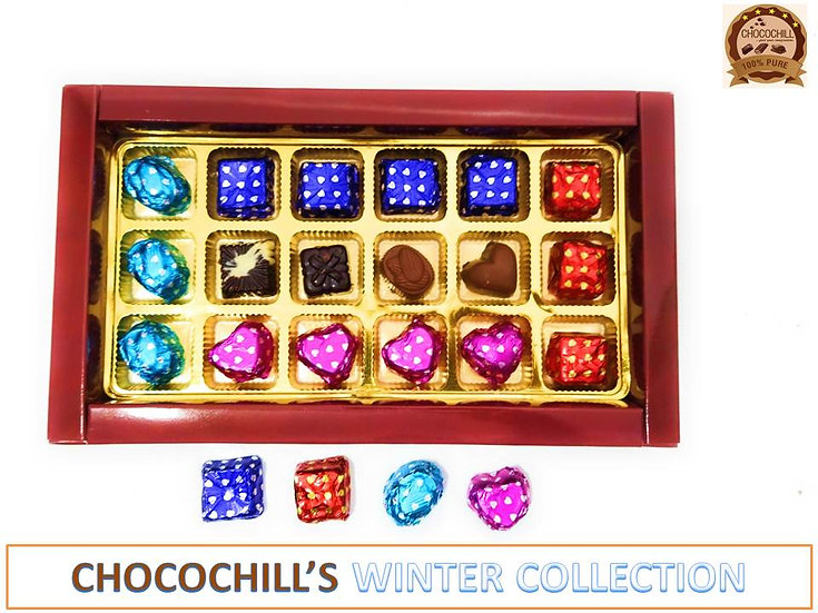 Assorted Homemade Chocolates Gift Pack, Winter Special Collection by CHOCOCHILL