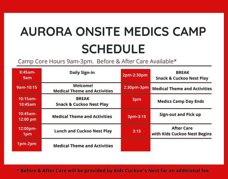 2021 Typical Onsite Aurora Medics Camp S