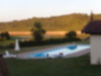 Domaine La Barbe, het gote zwembad (5x20m) met uitzicht op het meer