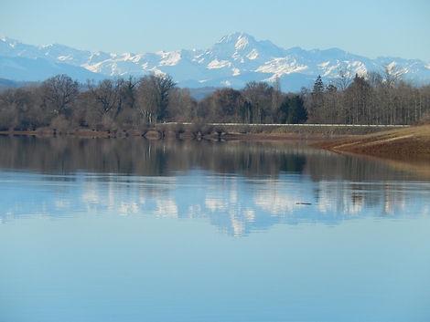 Domaine La Barbe, het Lace de Gimone met uitzicht op de Pyreneeën