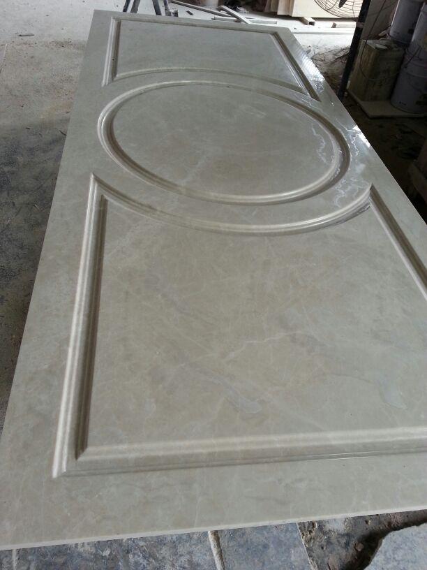 Marble door sculpture