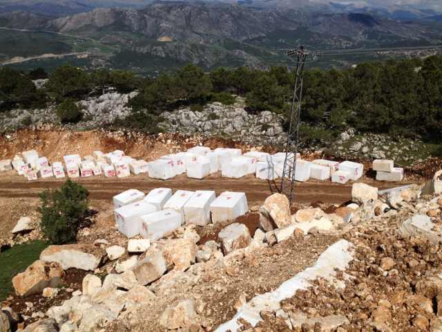 Select marbles in quarry