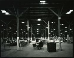 John McCurry Eating Lunch, Riverside Flea Market, Asheville, NC (10-81)