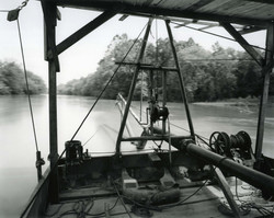 Sand Dredge, French Broad River, Asheville, NC (c. 1980)