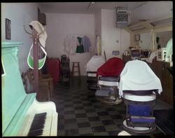 Henry's Barbershop, Biltmore Avenue, Asheville, NC (10-83)