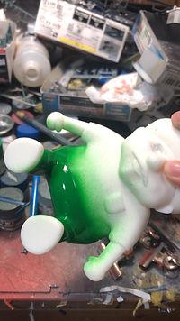 3Dプリンターで出力した造型物の塗装