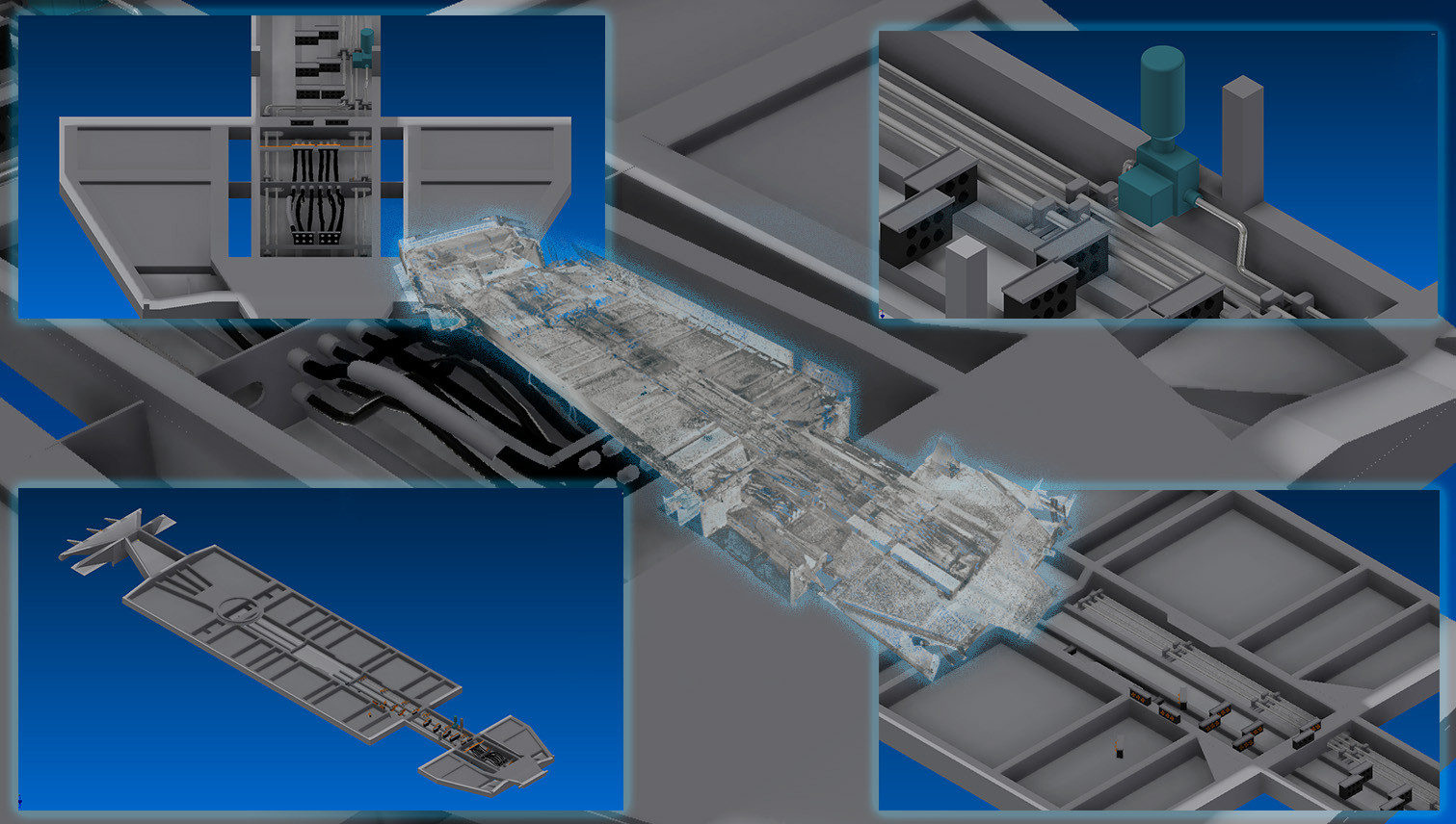 HIGH DETAIL 3D INVENTOR MODEL FROM LASER SCAN DATA-Shown here is the highly detailed model of the undercarriage. Using the scanned data from the rail car the client was able to make sure the carriage model accurately aligned with the train car.