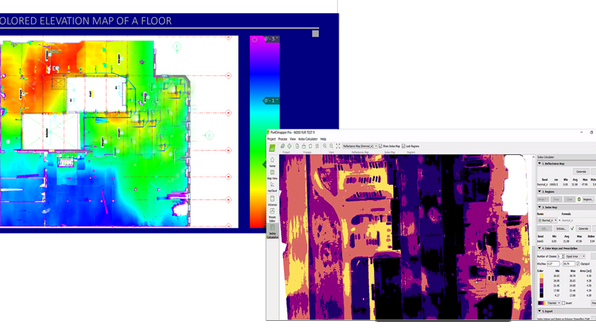 A by-product of laser scan data is generating a heat map. Heat maps are crucial to evaluate floor deviations. Using scan data, PMC can convert and create reports of floor flatness and deviations from level. Data can be also used for ASTM reporting and compliance with the Americans with Disabilities Act (ADA). For all types of projects from renovations to new construction, laser Scanning collects rich, complete and highly accurate as-built data to validate existing building documentation.