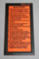 Aynthetic Rope Sling Warning Label