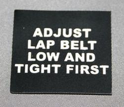 Aviation Instructional Label