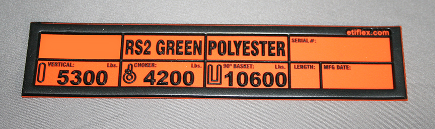Roundsling Capacity Tag