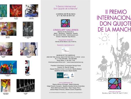 """Exposición """"II Premio International Don Quijote de la Mancha"""" - Barcelona, España"""