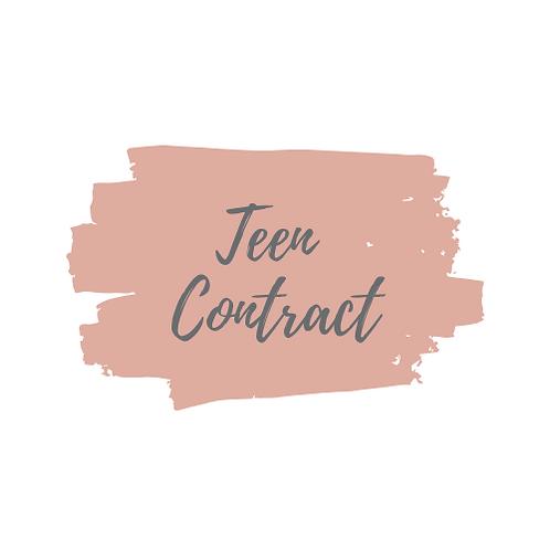 Teen Contract PDF