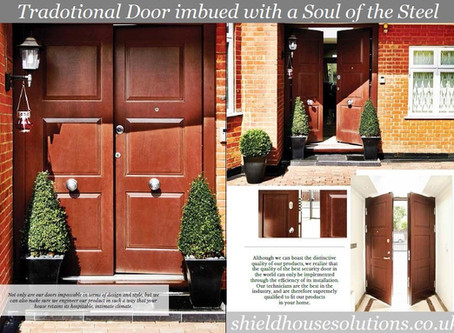 Traditional double Front Door imbued with a Soul Of the Steel.