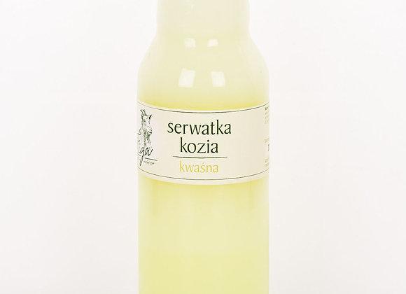 serwatka kozia kwaśna - butelka szklana 750 ml