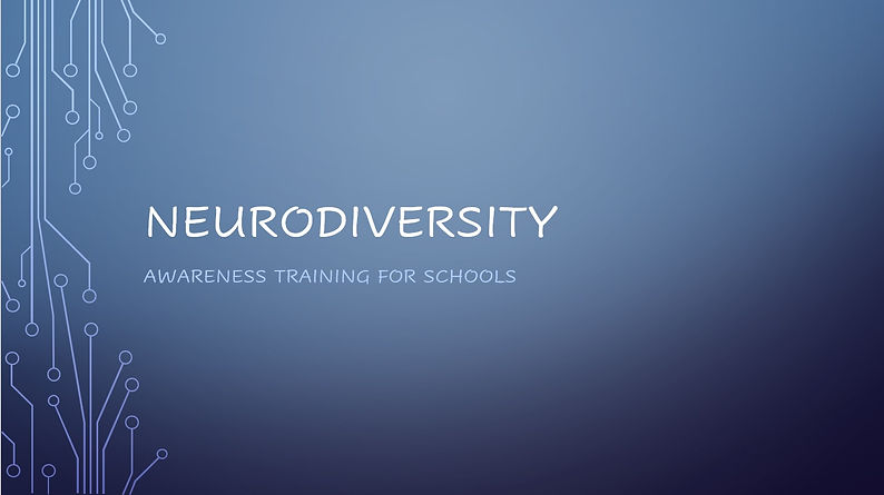 Title page for Neurodiversity training f
