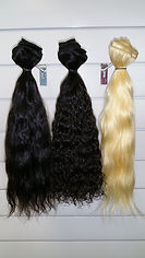 human hair wefted bundles