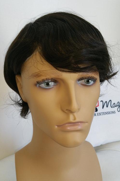 Straight Thin Skin Hair Unit #1b