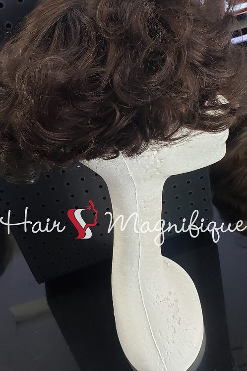 Loose Curl Straight Lace + PU Hair Unit #2