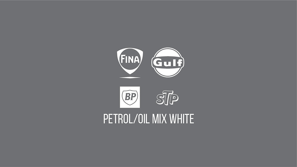 PETROLEUM / OIL BRANDS WHITE MIX Waterslide Decal Sheet